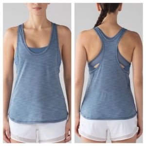 Lululemon Glide and Stride Tank-Blue, 10 or 12